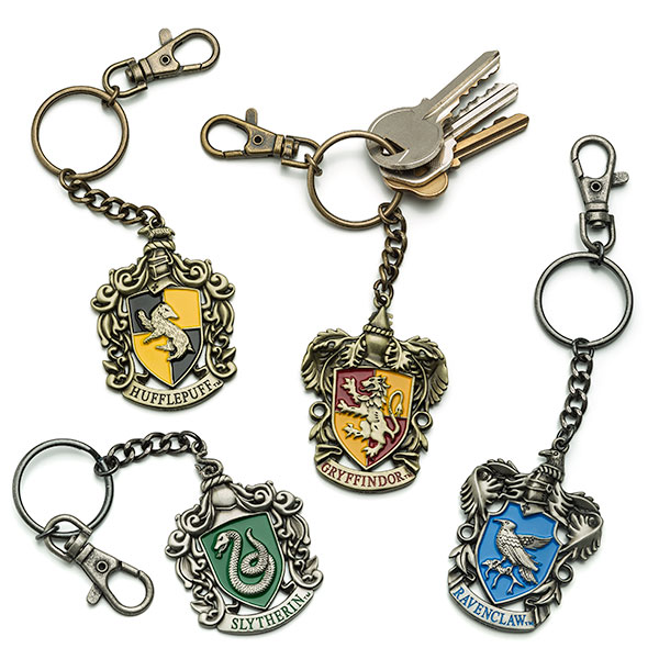 Harry Potter Book Keychain ~ Show off your hogwarts house crest geek decor